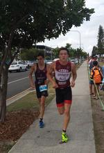 2016 - Kawana Aquathon - Sprint Finish with Jake